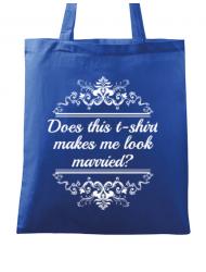Sacosa din panza Marriage Albastru regal