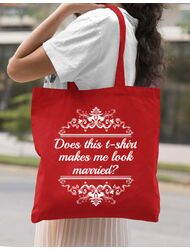 Sacosa personalizata Mireasa Marriage Rosu