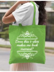 Sacosa din panza Marriage Verde mar
