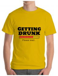 Tricou ADLER barbat Getting drunk Galben