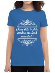 Tricou ADLER dama Marriage Albastru azuriu