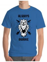 Tricou ADLER barbat Always awake Albastru azuriu