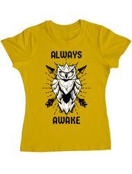 Tricou ADLER dama Always awake Galben