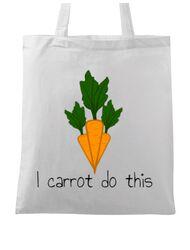 Sacosa din panza I carrot do this Alb