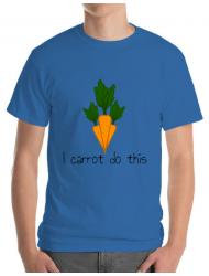Tricou ADLER barbat I carrot do this Albastru azuriu