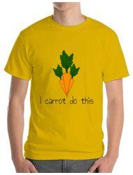 Tricou ADLER barbat I carrot do this Galben