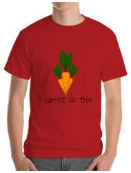 Tricou ADLER barbat I carrot do this Rosu
