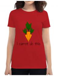 Tricou ADLER dama I carrot do this Rosu