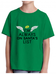 Tricou ADLER copil Always on santa's list Verde mediu