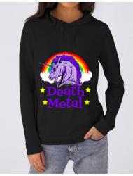 Hoodie dama cu gluga Death Metal Negru