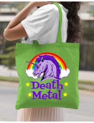 Sacosa din panza Death Metal Verde mar