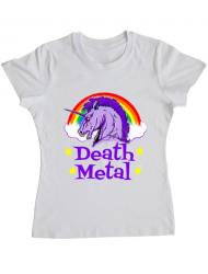 Tricou ADLER dama Death Metal Alb