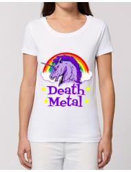 Tricou STANLEY STELLA dama Death Metal Alb