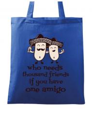 Sacosa din panza One amigo Albastru regal