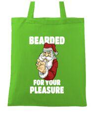 Sacosa din panza Bearded for your pleasure Verde mar