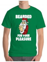 Tricou ADLER barbat Bearded for your pleasure Verde mediu