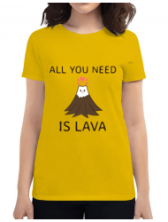 Tricou ADLER dama All you need is lava Galben