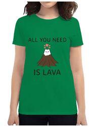 Tricou ADLER dama All you need is lava Verde mediu