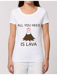 Tricou STANLEY STELLA dama All you need is lava Alb