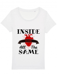 Tricou STANLEY STELLA dama Inside we're all the same Alb