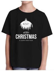 Tricou ADLER copil Merry Christmas and Happy new Year Negru