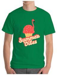 Tricou ADLER barbat Summer Vibes Verde mediu