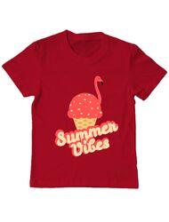 Tricou ADLER copil Summer Vibes Rosu