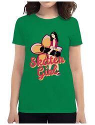 Tricou ADLER dama Skater Girl Verde mediu