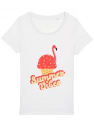 Tricou STANLEY STELLA dama Summer Vibes Alb