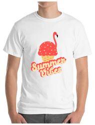 Tricou ADLER barbat Summer Vibes Alb