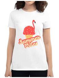 Tricou ADLER dama Summer Vibes Alb
