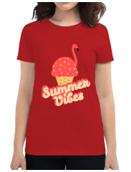 Tricou ADLER dama Summer Vibes Rosu
