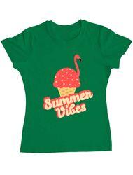 Tricou ADLER dama Summer Vibes Verde mediu