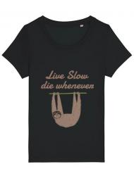 Tricou STANLEY STELLA dama Live slow, die whenever Negru