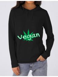 Hoodie dama cu gluga Vegan Negru