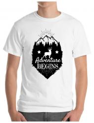 Tricou ADLER barbat Adventure Begins Alb
