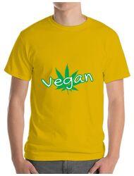 Tricou ADLER barbat Vegan Galben