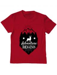 Tricou ADLER copil Adventure Begins Rosu