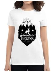 Tricou ADLER dama Adventure Begins Alb