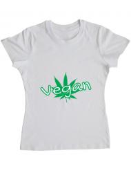 Tricou ADLER dama Vegan Alb