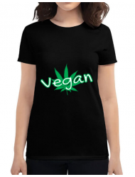 Tricou ADLER dama Vegan Negru