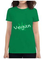 Tricou ADLER dama Vegan Verde mediu