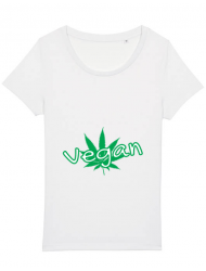 Tricou STANLEY STELLA dama Vegan Alb