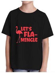 Tricou ADLER copil Let's flamingle Negru