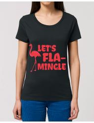 Tricou STANLEY STELLA dama Let's flamingle Negru