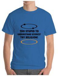Tricou ADLER barbat Try religion Albastru azuriu