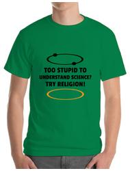 Tricou ADLER barbat Try religion Verde mediu