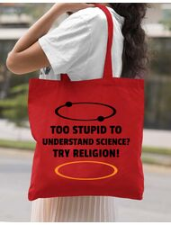 Sacosa din panza Try religion Rosu