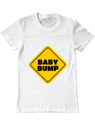 Tricou ADLER barbat Baby bump Alb