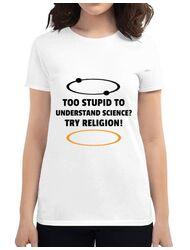 Tricou ADLER dama Try religion Alb
